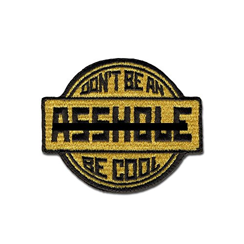 Bastion Tactical Combat Badge Military Hook and Loop Badge bestickt Morale Aufnäher - Be Cool hautfarben