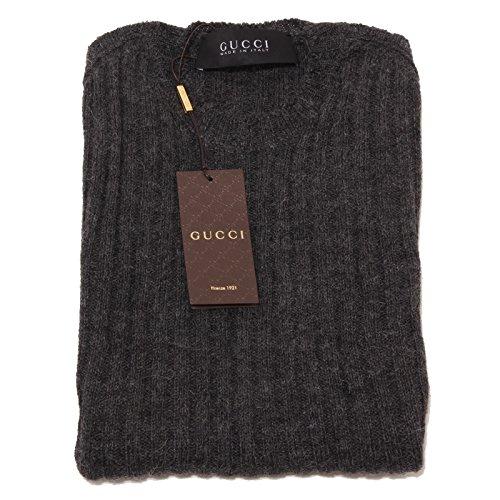 0680P maglione lana alpaca GUCCI grigio scuro melange maglia uomo sweater men [M]