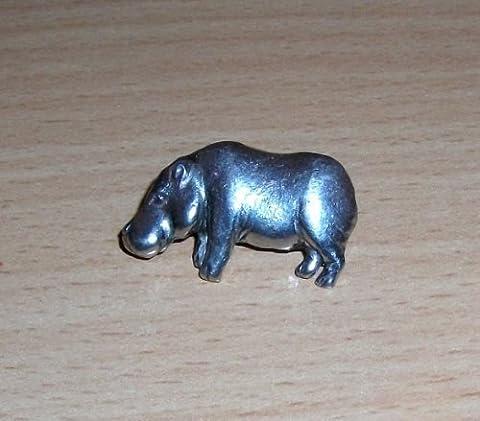 Nilpferd wilden Tieres Broschennadel Zinn/Krawattennadel - Ideal als 4 U - kann auch als Ansteckbrosche, (Piccolo Cappello Pin)