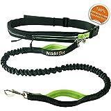 Nikkipet Joggingleine | Sport Joggingleine Hunde | Jogging Hundeleine für große und mittelgroße Hunde | Laufleine für Hunde | Bauchgurt Hundeleine wasserabweisend | Hundeleine Joggen reflektierend
