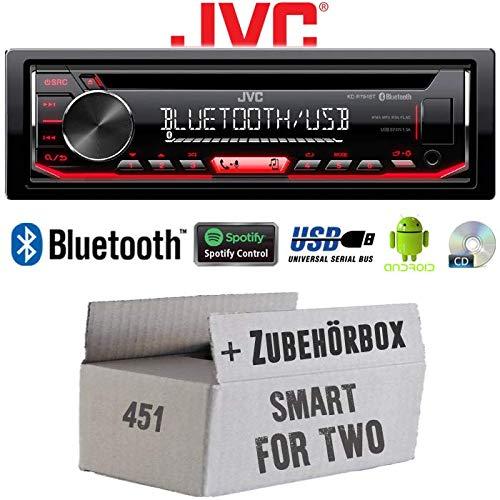 Autoradio Radio JVC KD-R794BT | Bluetooth | Spotify | MP3 | USB | Android | CD - Einbauzubehör - Einbauset für Smart ForTwo 451 2007- JUST SOUND best choice for caraudio - 2007-basic-mode