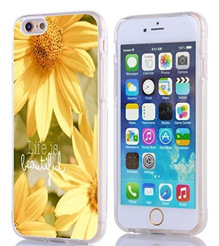 iPhone 6Fall Bibel Vers, topgraph Apple iPhone 6(4,7) Hard Slim Case Christian Zitate Siehe Ich Bin die Eine Neue Thing. Girly Grün Süßes Floral Muster, I6-TPU (8)