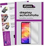 dipos I 2X Schutzfolie klar passend für Xiaomi Redmi Note 7 Pro Folie Bildschirmschutzfolie