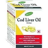 Shrey's Cod Liver Oil, Vitamins A & D - 100 Capsules (Immunity Booster) (1)