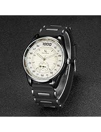 Relojes Hermosos, De los hombres v6 correa de caucho de diseño de carreras f1 cuarzo reloj ocasional ( Color : Negro )