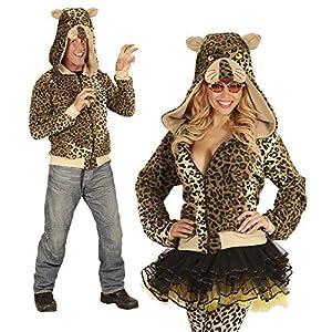 WIDMANN 07033?Adultos Disfraz Leopard, Sudadera con Capucha, Color marrón, tamaño L/XL