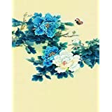 A.Monamour Vintage Mottled Floral Flower Print 5x7ft Fabric Vinyl Photography Backgrounds Flower Butterfly