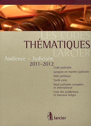Audience - Judiciaire par Larcier