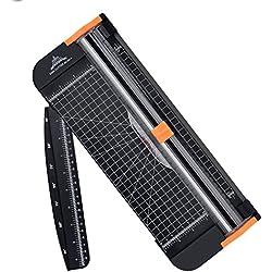 Letion Massicot Rogneuse A4 en titane avec sécurité automatique pour découpe de papier standard/photos/étiquettes Noir noir