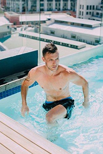 GUGGEN MOUNTAIN Maillot de bain pour homme de materiau slip shorts Striped Noir
