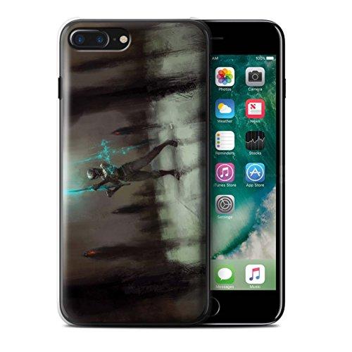 Offiziell Chris Cold Hülle / Case für Apple iPhone 7 Plus / Schatten Ritter Muster / Unterwelt Kollektion Schatten Ritter