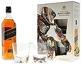 Johnnie Walker Black Label in GP mit 2 Gläser Blended Scotch Whisky (1 x 0,7l)