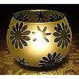 Vintage Glass Tea Light Votive Candle Holder Centerpiece