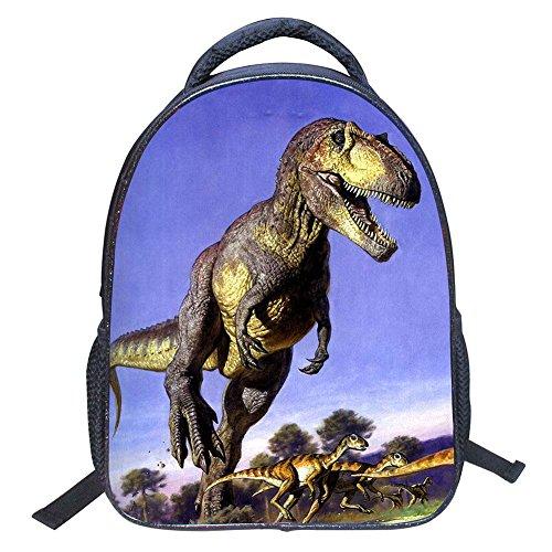 JIAN YA NA Baby Kleinkind Kinder Kind 3D Tiere Coole Dinosaurier Print Leinwand Rucksack Schul Umhängetasche Kinder Buch Tasche für Kindergarten (Gute Ya-bücher)