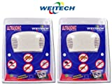 2 x WEITECH WK0300 REPULSIF REPOUSSE ANTI RATS SOURIS PUCES TIQUES ULTRA SONS ULTRASONS