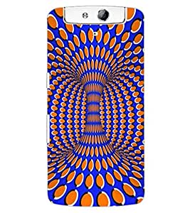ColourCraft Beautiful Pattern Design Back Case Cover for OPPO N1