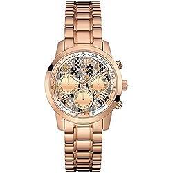 Guess Reloj cronografo para Mujer de Cuarzo con Correa en Acero Inoxidable W0448L9