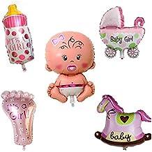 Calistouk Cinco globos cumpleaños decorativos aluminio para fiestas de bebés niño ...