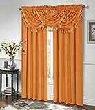 Regal Home Kollektionen circa Wasserfall Fenster Volant mit Zierteilen, 119,4x 94cm orange