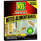 KB HOME DEFENSE PIEGES MITE ALIMENTAIRE Pack de 3 HDMIT 9560