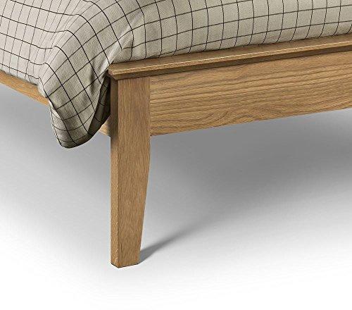 Happy Beds Salerno Bed Wooden Oak Frame 5' King Size 150 x 200 cm
