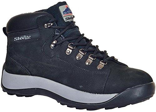 Portwest Steelite Mid Cut Nubuk Steel Toe Cap - Black - UK 6.5 / US 7.5 / EU 40 6.5 Snowboard-boots