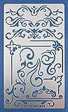 Aleks Melnyk 3 Bala Diario Stencil metal/Ornament/Plantilla con Acero Inoxidable/Stencils diario/Scrapbook/Planificador/arte manualidades DIY/dibujo plantilla