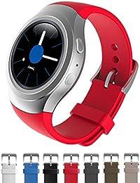 Dokpav® Banda Pulsera Correa de Reloj Inteligente Smartwatch Silicona Deportiva para Samsung Gear S2 - rojo