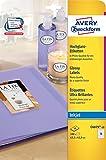 Avery Zweckform C6079-10 Hochglanz-Etiketten (A4, 180 Stück, oval, glänzend, 63,5 x 42,3 mm) 10 Blatt weiß