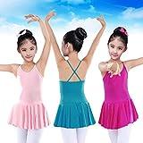 QinMM Justaucorps de Danse Classique Jupe de Danse Enfant Fille Princess Robe Ballet,...