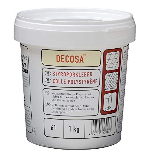 DECOSA Styroporkleber, weiß, 1 Eimer à 1 kg