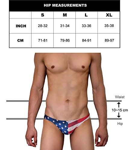 Neptune Scepter handgemacht Herren Push-Up Bikini Slip Badehose Brief - Nationalflagge NS-603 (France)