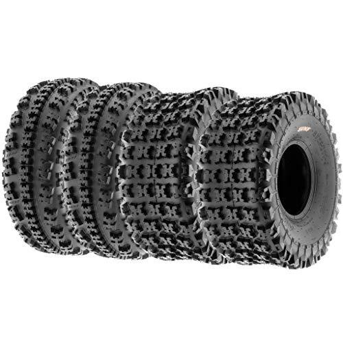 SunF 22x7-10 & 20x11-9 ATV Quad Reifen Tyres A027 6 PR, [Voller Satz von 4] -