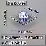Deckenleuchten Crystal Aisle Lights Korridor Lichter Nordic Einfache moderne Eingangstür Lichter Veranda Lichter Wohnzimmer Downlights Led Strahler, [Black Models] Led5W warmes Licht verborgen