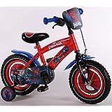 SpiderMan Qualitäts Kinderfahrrad 12 Zoll Kinder Fahrrad Marvel Spider Man 41254
