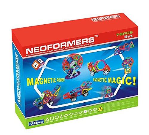 KLEIN Design Blocs de Construction magnétique de Haute qualité de Neoformers - 78 Pièces pour Enfant à partir DE 3 Ans.
