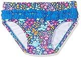 DIMO-TEX Sun Baby-Mädchen Schwimmwindel Windelbadehose UV-Schutz 50, Mehrfarbig (AOP Blumen), 68 (Herstellergröße: 62/68)