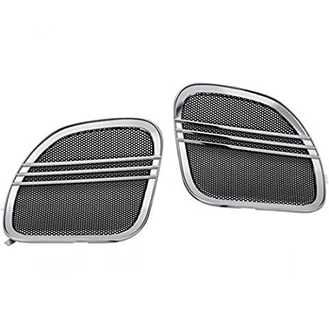 Tri-line speaker grills chrome - 7378 - Kuryakyn 44050419
