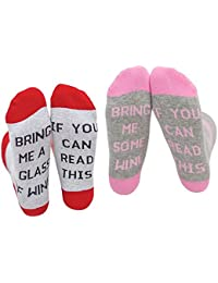 "Wine Socks, niceeshop(TM) 2pairs ""If You Can Read This"" Wine Cotton Socks Gift for Wine Lovers,Birthdays,Christmas"