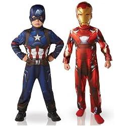 Marvel I-620775S–Paquete con dos disfraces (Iron Man y Capitán América)