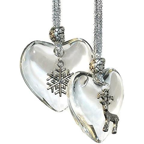 Kit para hacer Corazón de Cristal Árbol de Navidad, Reno y copo–hace 2