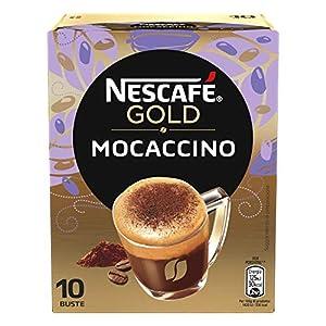 Nescafè Gold Mocaccino Preparato Solubile per Caffè al Cacao, Astuccio, 10 Bustine, 88 g