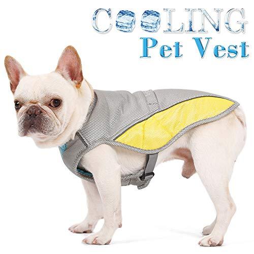Danigrefinb Chaleco Perro, Chaleco de Verano para Mascotas, Chaleco de enfriamiento para prevención de Golpes de Calor, Chaqueta para Cachorro, Ropa refrigerante para Perro