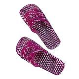 Pantoufles en cristal, pantoufles de massage pour pieds pour femmes Sandales creuses pour été à la maison salle de bains douche fond mou Slip Deodorant chaussures de loisirs en plein air,Purple,38