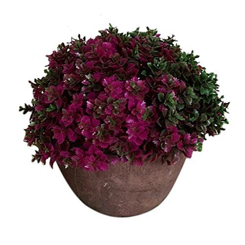 Sharplace Künstliche Bonsai mit Topf – Rot