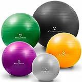 Palla da ginnastica »Orion« con pompa de palla / Robusta palla fitness e da seduta ergonomica, da 55 cm a 85 cm / disponibile in tante dimensioni e colori / 85 cm / azzurro