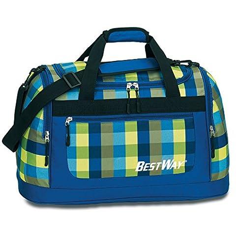 BESTWAY Royalblau-Lime Schulsporttasche Sporttasche Schwimmtasche Freizeittasche Weekender Traveller Bag -