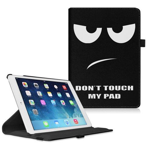 Apple iPad mini 1 / 2 / 3 Hülle Case - Fintie 360 Grad rotierend Kunstleder Schutzhülle Tasche Etui Cover mit Auto Schlaf / Wach, Standfunktion, Stylus-Halterung für iPad mini 3 / iPad mini 2 / iPad mini 1, Dont Touch