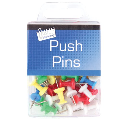 Just Stationery Hanging Box Push Pin (Pack of 50) Test