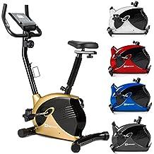 Hop-Sport Heimtrainer SPARK Fitnessgerät mit Pulssensoren & Computer 8 Widerstandsstufen Lenker und Sattel verstellbar